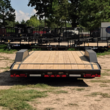 LOAD TRAIL 102X20 Tandem Axle 10K Car Hauler Slide In Ramps Dovetail Radial Tires and LED Lights - Haul Supply