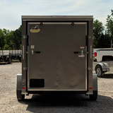 COVERED WAGON TRAILERS 6X12 Single Axle V-Nose Enclosed Cargo Trailer Rear Ramp Radial Tires and LED Lights - Haul Supply
