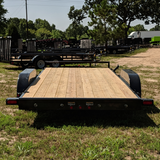 83X18 Tandem Axle Car Hauler Slide In Ramps Radial Tires and LED Lights