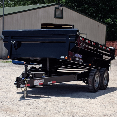 83X12 Tandem Axle King Size Dump Trailer 3-Way Rear Gate Slide-In Ramps Radials Tires and LED Lights