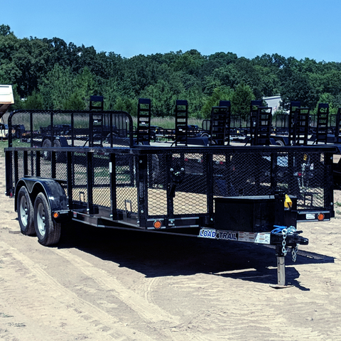 "83X18 Tandem Axle Landscape Utility Trailer 4' Fold Gate 24"" Removable Side Radial Tires and LEDs"
