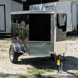 SPARTAN 4X6 Single Axle V-Nose Enclosed Cargo Trailer Single Rear Door Radial Tires and LED Lights - Haul Supply