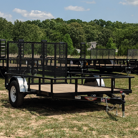 82X10 Single Axle Utility Trailer Rear Gate Radial Tires and LED Lights