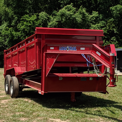 83X16 Tandem Axle Gooseneck Dump Trailer 3-Way Rear Gate Slide-In Ramps Radial Tires and LEDs