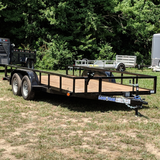 83X16 Tandem Axle Utility Trailer Slide-In Ramps Radial Tires and LED Lights