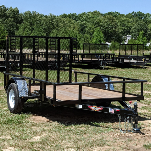 HH TRAILERS 76X10 Single Axle Utility Trailer Rear Gate Radial Tires and LED Lights - Haul Supply