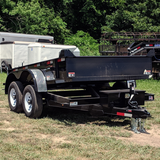 HH TRAILERS 76X10 Tandem Axle Dump Trailer Barn Door Gate Spreader Slide-In Ramps Radials and LED Lights - Haul Supply