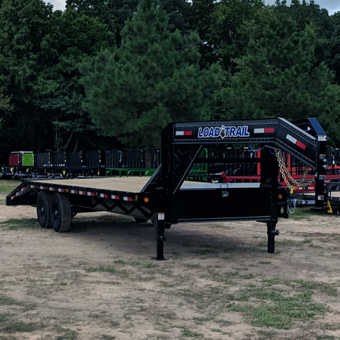 LOAD TRAIL 102X25 Tandem Axle Gooseneck Trailer Max Ramps Dovetail Radial Tires and LED Lights - Haul Supply