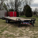 "LOAD TRAIL 102X24 Tandem Axle Pintle Hook Equipment Trailer Max Ramps Dovetail 16"" Radial Tires and LED Lights - Haul Supply"