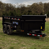 LOAD TRAIL 72X12 Tandem Axle Dump Trailer 3-Way Rear Gate Slide-In Ramps Radial Tires and LED Lights - Haul Supply