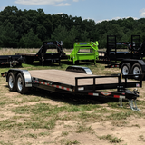 82X20 Tandem Axle Car Hauler Slide-In Ramps Dove Tail Radial Tires and LED Lights