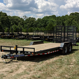 83X22 Tandem Axle Car Hauler 5' Fold Gate Dove Tail Radial Tires and LED Lights