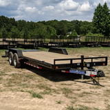 83X22 Tandem Axle Equipment Trailer Max Ramps Dove Tail Radial Tires and LED Lights