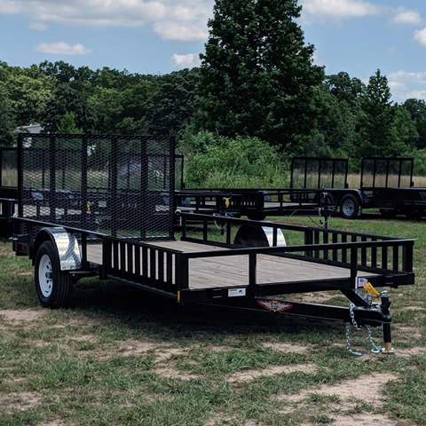 82X14 Single Axle ATV/UTV Utility Trailer Rear Gate Side Rail Ramps Radial Tires and LED Lights