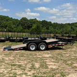 USED 83X18 Tandem Axle Car Hauler Tilt Deck Radial Tires and LED Lights