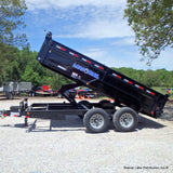 "83x14 Tandem Axle Dump Trailer with 24"" Dump Sides w/ 24"" 3 Way Gate 80"" X 16"" Rear Slide In Ramps and LED Lights"