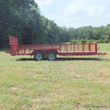 83X20 10K Tandem Axle Equipment Trailer with 5' Heavy Duty Split Fold Gate Dexter Spring Axles and LED Lights