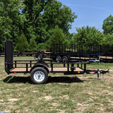 HH TRAILERS 76X10 Single Axle Utility Trailer Fold Gate Radial Tires and LED Lights - Haul Supply