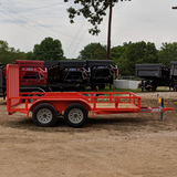 LOAD TRAIL 77X12 Tandem Axle Utility Trailer 4' Fold Gate Radial Tires and LED Lights - Haul Supply