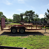 83X14 Tandem Axle Utility Trailer 4' Fold Gate Radial Tires and LED Lights