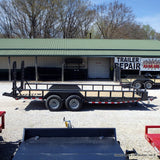 83X20 Tandem Axle 14K Equipment Trailer Fold Up Ramps Radial Tires and LED Lights