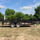 83X16 Tandem Axle Utility Trailer 4' Fold Gate Radial Tires and LED Lights
