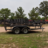 83X12 Tandem Axle Utility Trailer 4' Fold Gate Radial Tires and LED Lights