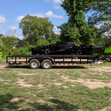 83X20 Tandem Axle 10K Equipment Trailer Slide In Ramps Radial Tires and LED Lights