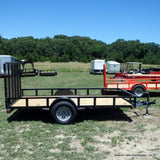 77X12 Single Axle Utility Trailer W/4' Fold Gate, Radial Tires & LED Lights