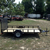77X12 Single Axle Utility Trailer with 4' Fold Gate Radials & LED Lighting