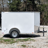 SPARTAN 5X8 Single Axle V-Nose Cargo Trailer Single Rear Door Radial Tires and LED Lights - Haul Supply