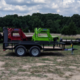 LOAD TRAIL 77X12 Tandem Axle Utility Trailer 4' Fold Gate Pipe Top Rails Radial Tires and LED Lights - Haul Supply