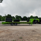 LOAD TRAIL 102X25 Tandem Axle Gooseneck Equipment Trailer Max Ramps Dovetail Radial Tires and LED Lights - Haul Supply