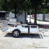 66X10 Single Axle All Aluminum Trailer with Bi-Fold Gate Radial Tires & LED Lights