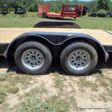 83X18 Tandem Axle Car Hauler with Slide In Ramps Radial Tires & LED Lights