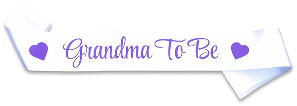 "New Grandmother Gifts - ""Grandma To Be"" Sash - Baby Shower Decorations - Gender Reveal Party - Baby Announcement"