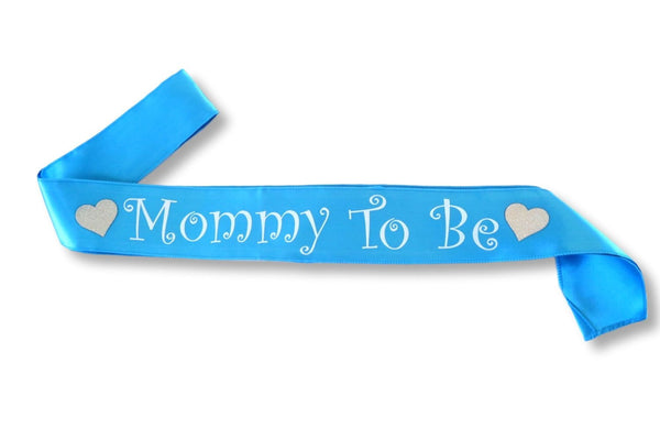 Blue Mommy To Be Sash for Boy