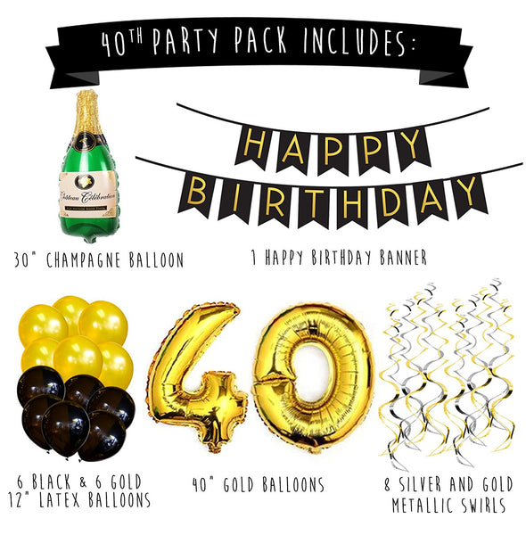 40th Birthday Party Pack