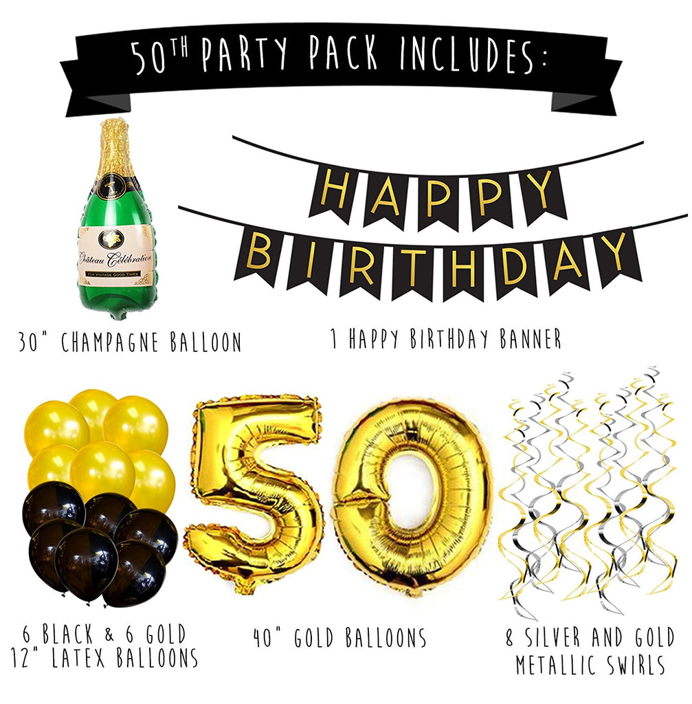 50th Birthday Party Pack