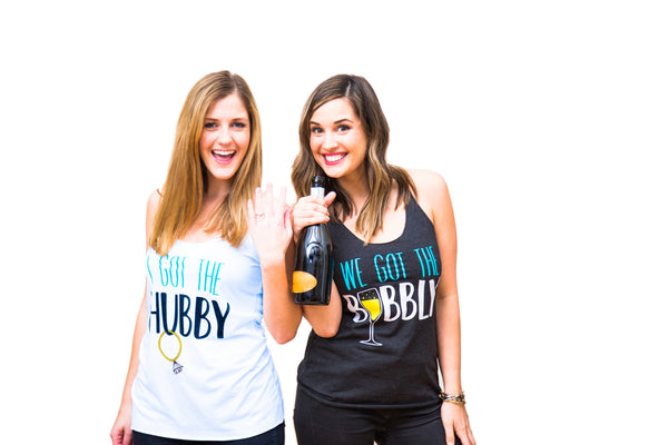 Bachelorette Party Shirts - Triblend Racerback Hubby and Bubbly Tanks