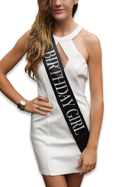 "& Fabulous™ Black ""Birthday Girl"" Sash"