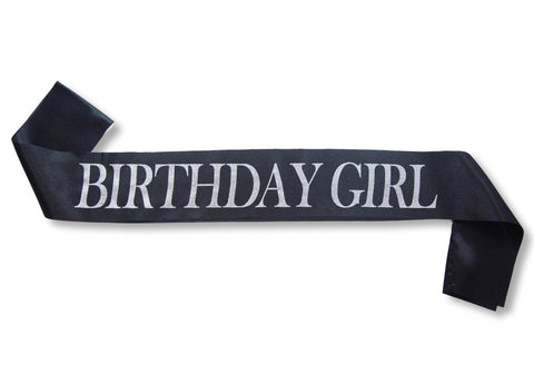 """Birthday Girl"" Glitter Satin Sash"