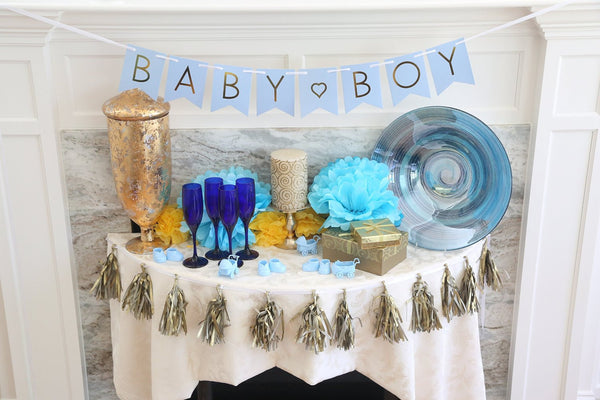 "Boy Baby Shower Banner - ""Baby Boy"""