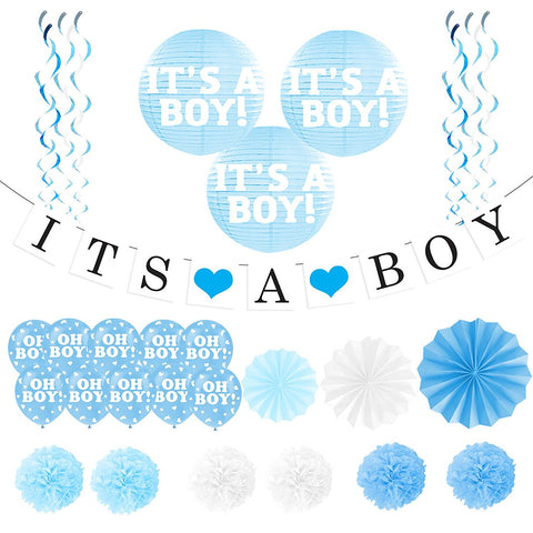 """It's A Boy"" Banner and Balloon Pack"