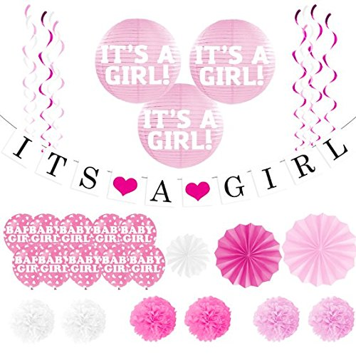 """It's A Girl"" Banner and Balloon Pack"