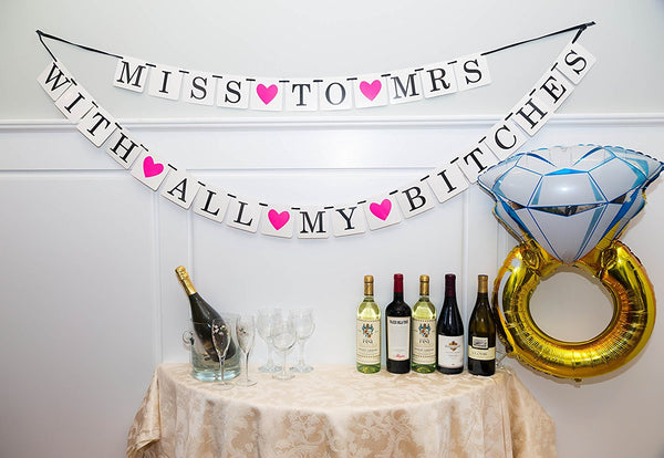 2-in-1 Classy and Sassy Bachelorette Party Banner