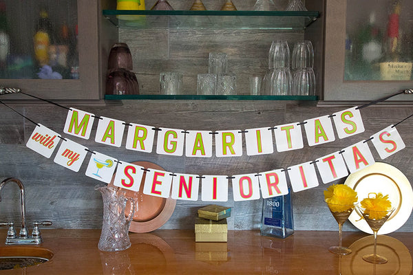 "Bachelorette Banner - ""Margaritas with My Senoritas"""