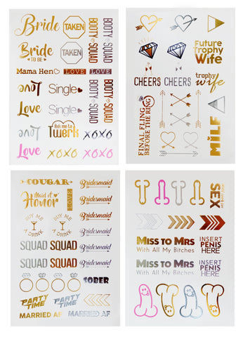Team Bride™ Bachelorette Temporary Tattoos