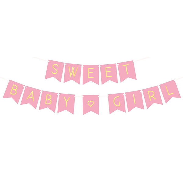 "Girl Baby Shower Banner - ""Sweet Baby Girl"""