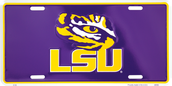 LSU Color License Plate